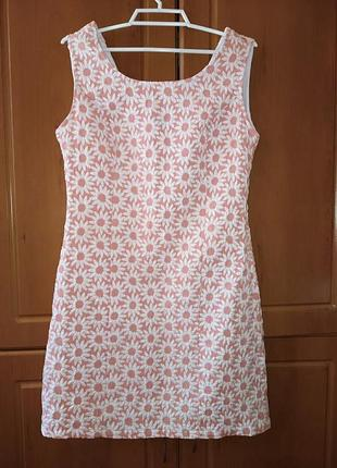 Платье сукня светлое короткое вырез нарядное обмен