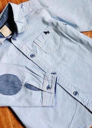 Стильная рубашка для модника h&m на 6-9+ мес