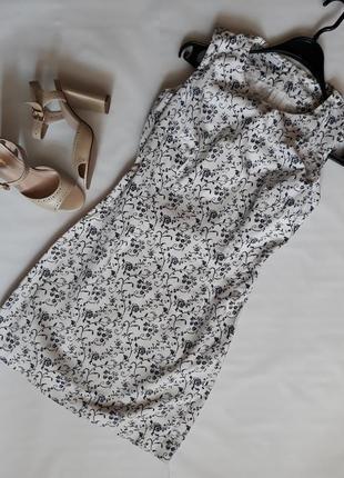 Нежное платье с цветочным принтом oodji