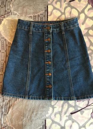 Юбка джинсовая на талию