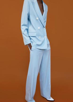 Zara костюм голубой, s