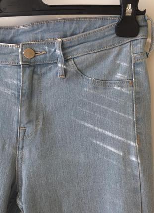 Скинни джинсы h&m высокая посадка