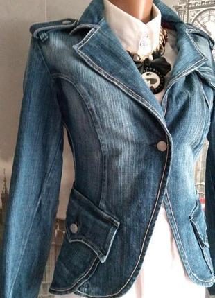 Італійський дизайнерський піджак джинсова жаккт