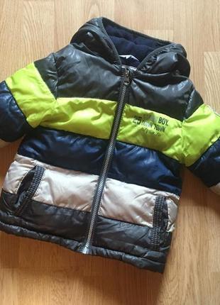 Фирменная курточка для мальчика kiabi, италия, размер 3г, 98,маломерит