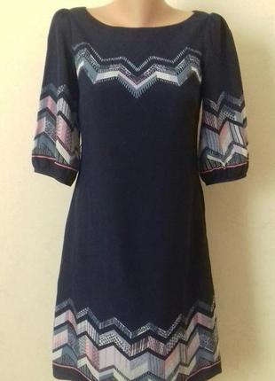 Распродажа!!!шифоновое платье с принтом moonsoon
