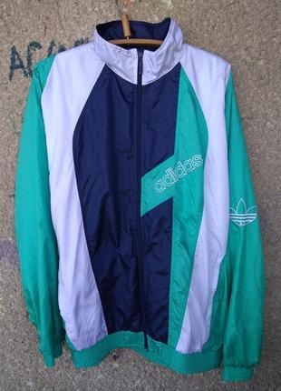 Ветровка спортивная adidas винтаж привет из 90 х кофта куртка адидас ретро
