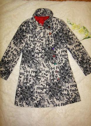 Роскошное дизайнерское пальто испанского бренда desigual р.46-48 марокко