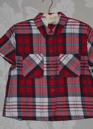 Брендовая рубашка в клетку topshop