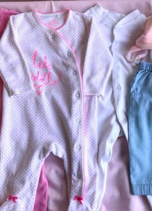 Детская одежда.человечки до 62 см (0 -5 мес) tu, next, georgia