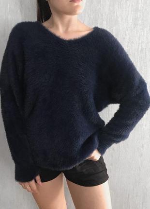 Темно-синий свитер от stradivarius