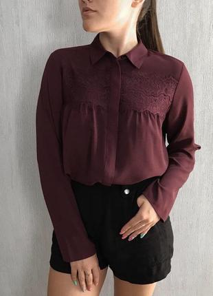 Блуза с кружевом от marks & spencer