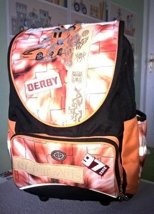 Школьный рюкзак derby c анатомической регулируемой ортопедической спинкой