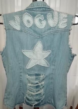 💣 джинсовая жилетка размер 44-46 casablanca