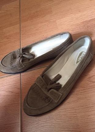Туфли. натуральный замш.