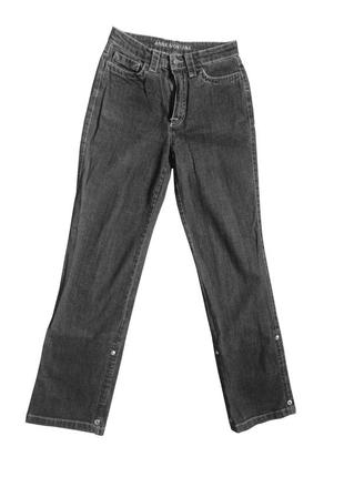Серые джинсы-бриджи anna montana