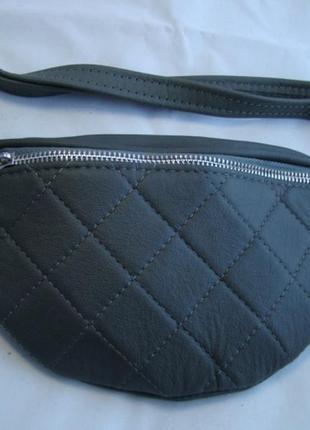 Женская кожаная сумка на пояс (бананка) polscy sz003