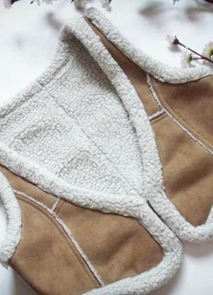 Тёплая жилетка на искусственной овчине от h&m, жилет