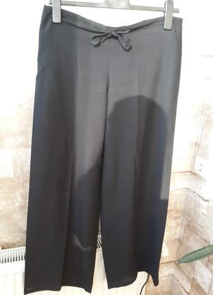 Черные шифоновые брюки