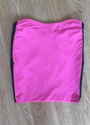 Ультрарозовая юбка gianni versace