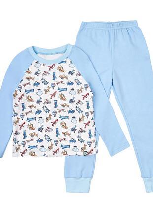 """Детская пижама limotto """"самолетики"""", размеры 92, 98, 110см"""