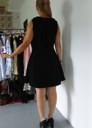 Плотное платье с воротничком №3155