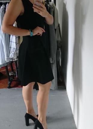 Плотное платье с воротничком №3154