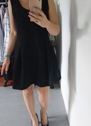 Плотное платье с воротничком №3153