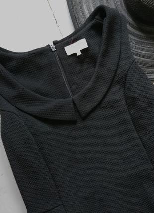 Плотное платье с воротничком №3152