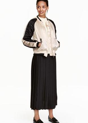 Плиссированная юбка миди h&m плиссе в складку