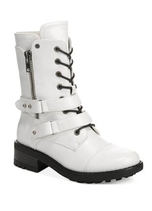 Carlos santana стильные белые высокие ботинки бренд оригинал из сша