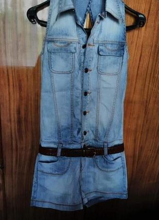 Ромпер комбинезон джинсовый шорты