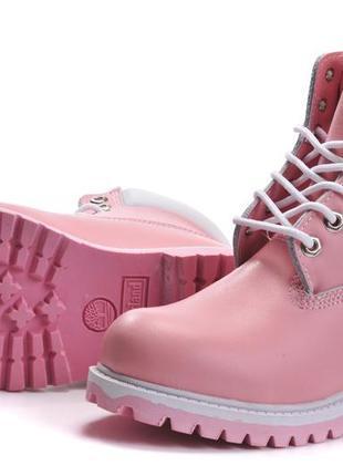 Розовые ботинки timberland 6-inch premium boots оригинал Timberland ... 595ca4b76e130