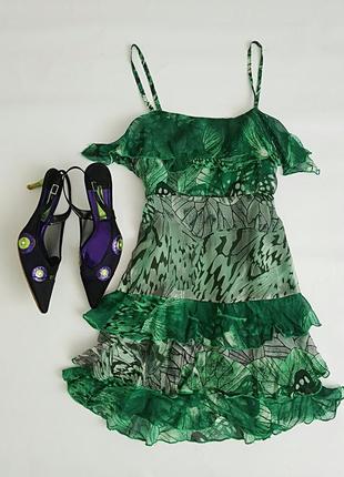 Платье сарафан 100%шелк