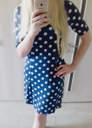 Милое платье в горошек