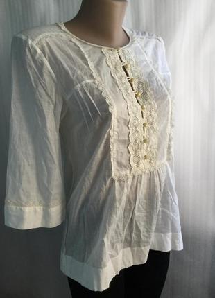 Блузка massimo dutti с кружевом