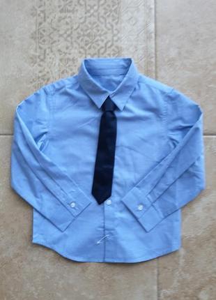 Рубашка с галстуком на мальчика 18-24 мес германия