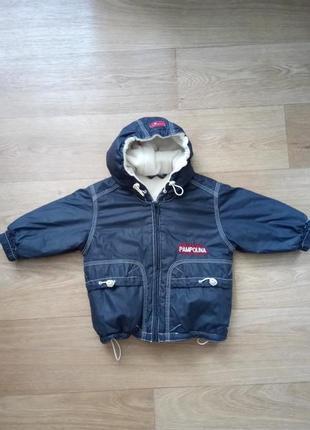 Тёплая демисезонная куртка для малыша от pampolina