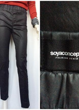 Soyaconcept  джинсы стрейч с эффектом кожы брюки стретч