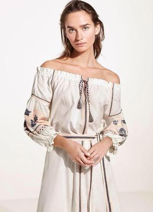 Льняное круизное платье oysho