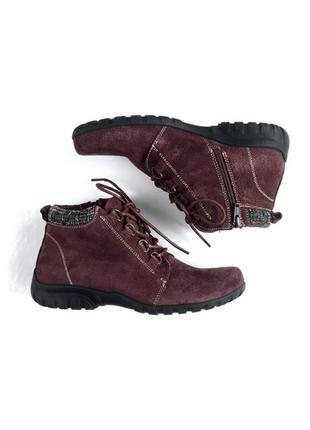 Propét оригинал удобные замшевые коричневые ботинки на шнуровке бренд из сша