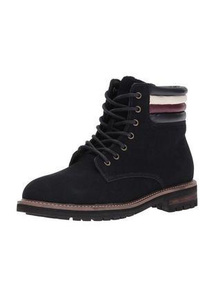 Tommy hilfiger оригинал замшевые высокие мужские ботинки на шнуровке комбаты из сша