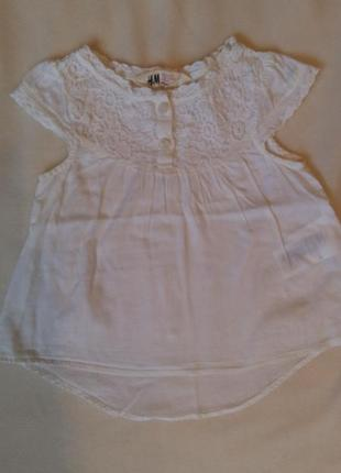Блузка для девочки 1,5/2годика h&m