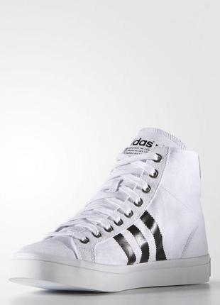 Кеди adidas courtvantage mid white / black (s78792)