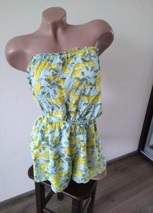 Комбез комбинезон ромпер шорты платье размер хс с
