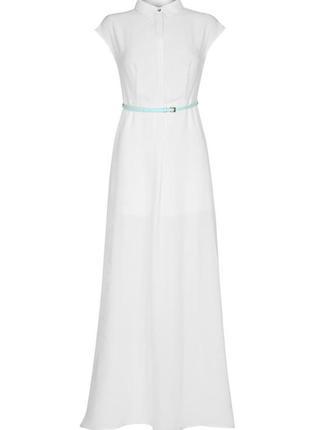 Белое платье-рубашка kira plastinina