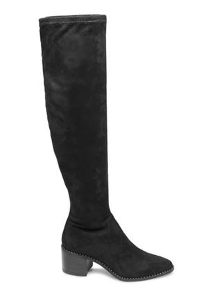 Steve madden оригинал замшевые высокие сапоги ботфорты на каблуке бренд из сша