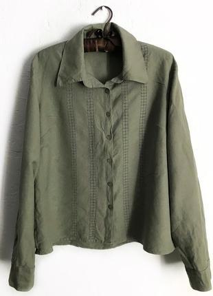 Рубашка из льна и вискозы