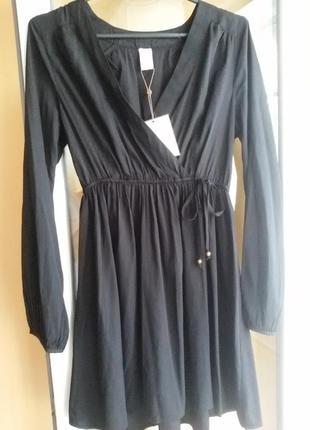 Плаття на запах платье на запах vila clothes базовое черное платье