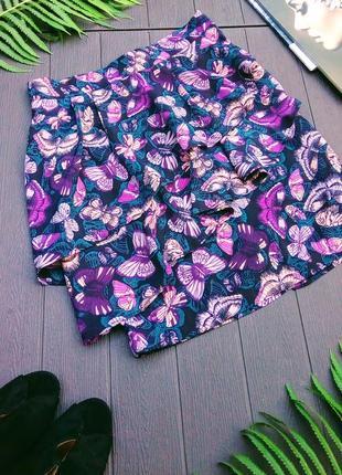 Яркая юбка мини с воланами от h&m, m