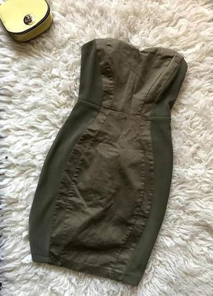 Платье бюстье с бандажное